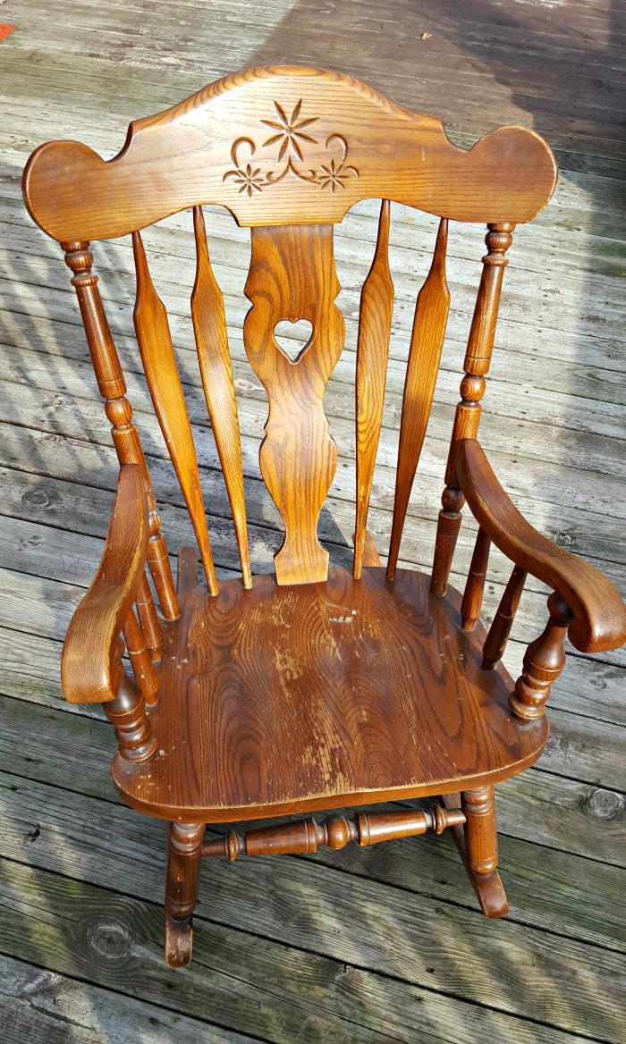 Nursery Wooden Rocking Chair Nursery Rocking Chair Makeover Spray Paint It For Less Than 10