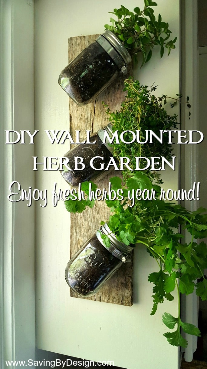 Ideal Mason A Piece Wood Are All You Need To Create How To Make An Wall Mounted Herb Garden To Enjoy Fresh Herbs Wall Herb Garden Shark Tank Wall Herb Garden Planters garden Wall Herb Garden