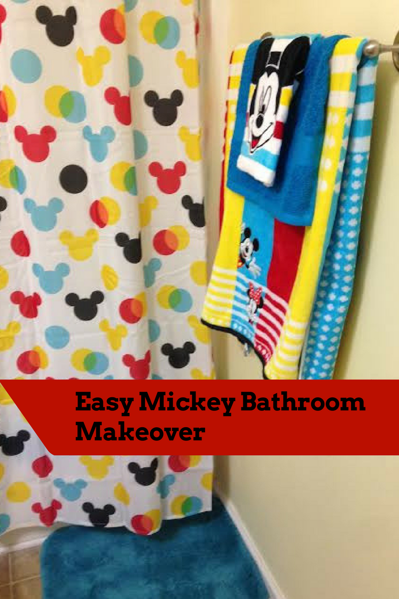 Apt 9 Shower Curtain My Disney Mickey Mouse Bathroom Makeover From Kohl S Saving