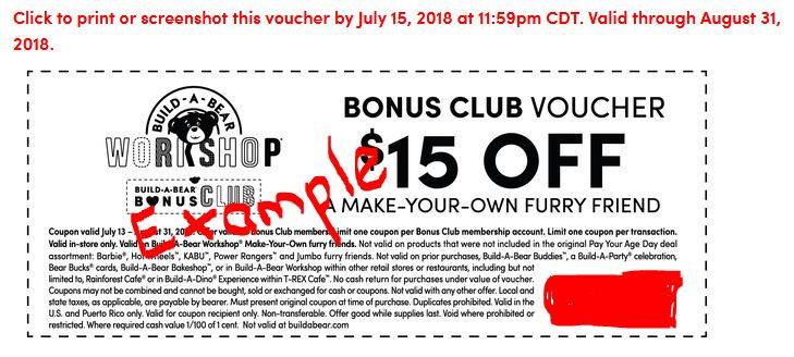 Last Day to Claim Build-A-Bear $15 off Bonus Club Coupon - Saving - make your own voucher