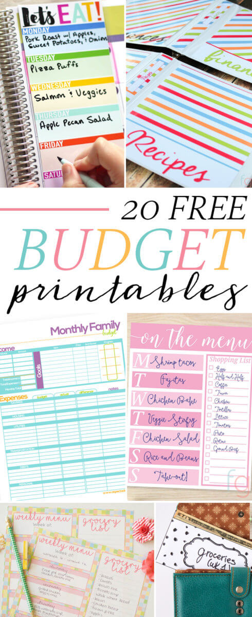 20 Free Budget Printables - Savor + Savvy