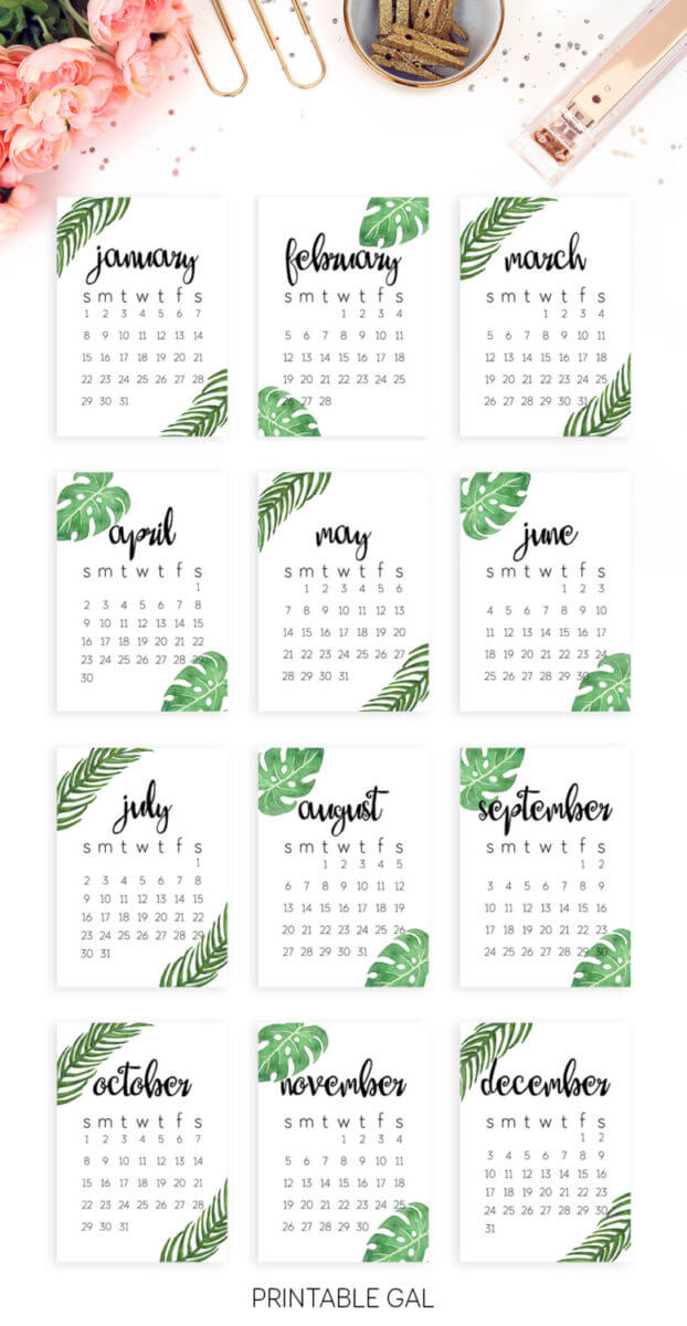 Free Printable Calendar 2017 Black and White Dated Calendar - printable 2017 calendar