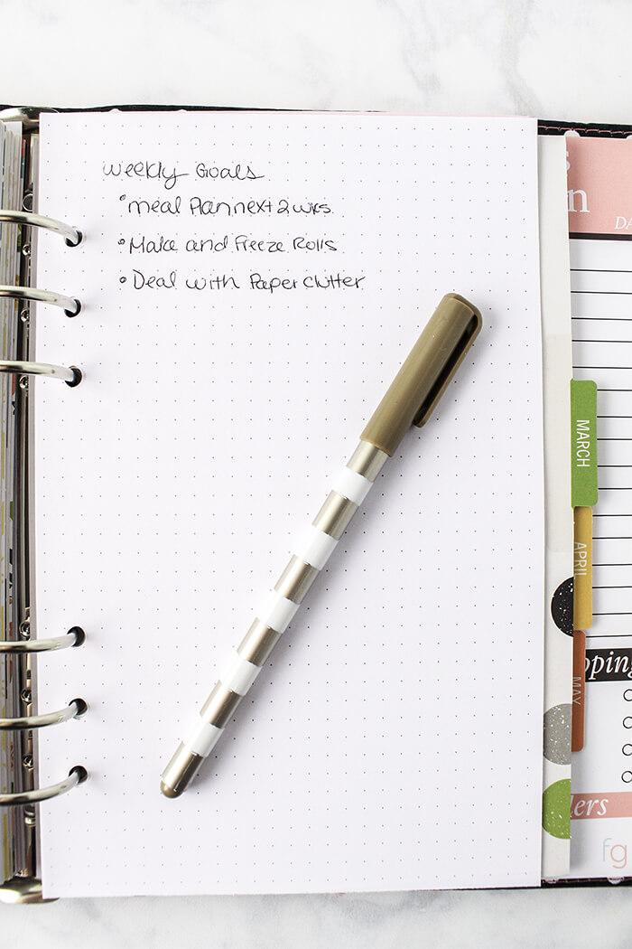 Dot Grid Paper Printable - Free Bullet Journal Page - printable dot grid paper