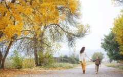 mother and daughter enjoying a walk