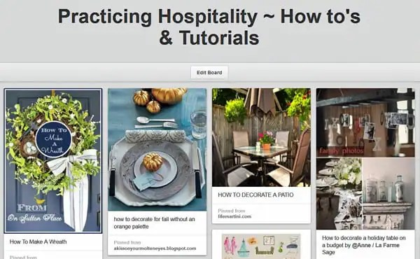 Practicing Hospitality - How-tos on Pinterest
