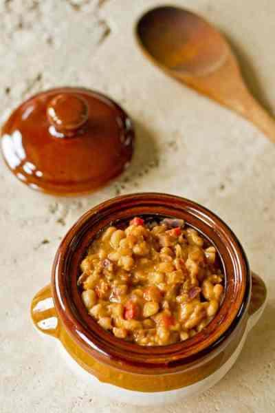 Guest Post by MJ's Kitchen Beans-Bacon-Chipotle Pot