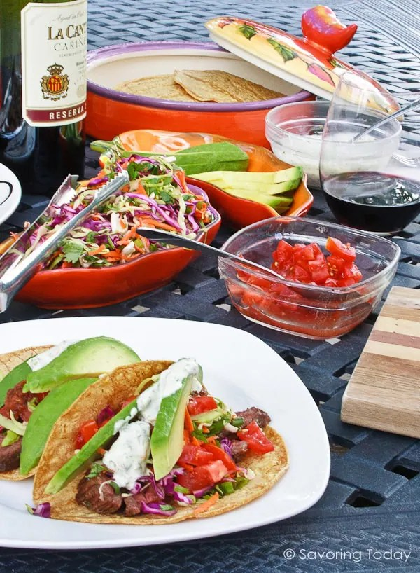 Skirt Steak Taco recipe for easy entertaining or simply weeknight meal.