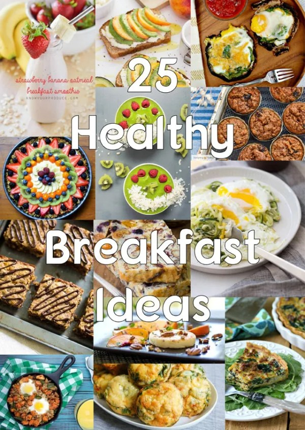 25 inspiring breakfast recipes for a healthy start! Including Paleo, Gluten-Free, Grain-Free, Dairy-Free, and Low-Carb.