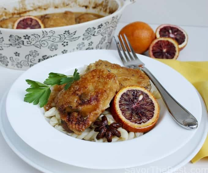 This dish looks beautiful when served with blood oranges as a ...