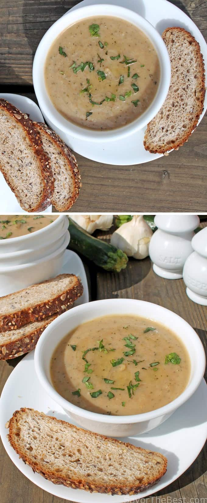 Zucchini Garlic Soup - Savor the Best
