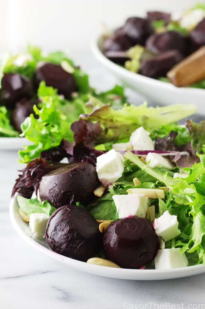 Roasted Baby Beet Salad with Feta Cheese - Savor the Best