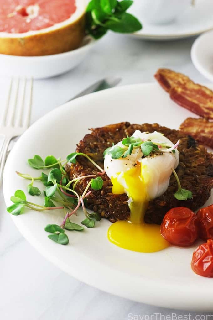start on your day with this farro breakfast risotto with poached egg ...
