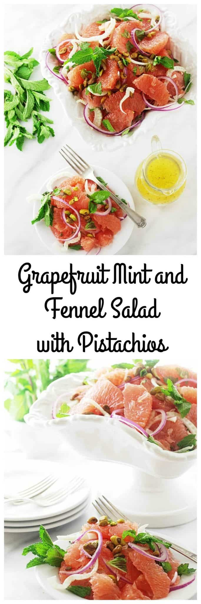 Grapefruit, Mint and Fennel Salad with Pistachios - Savor the Best