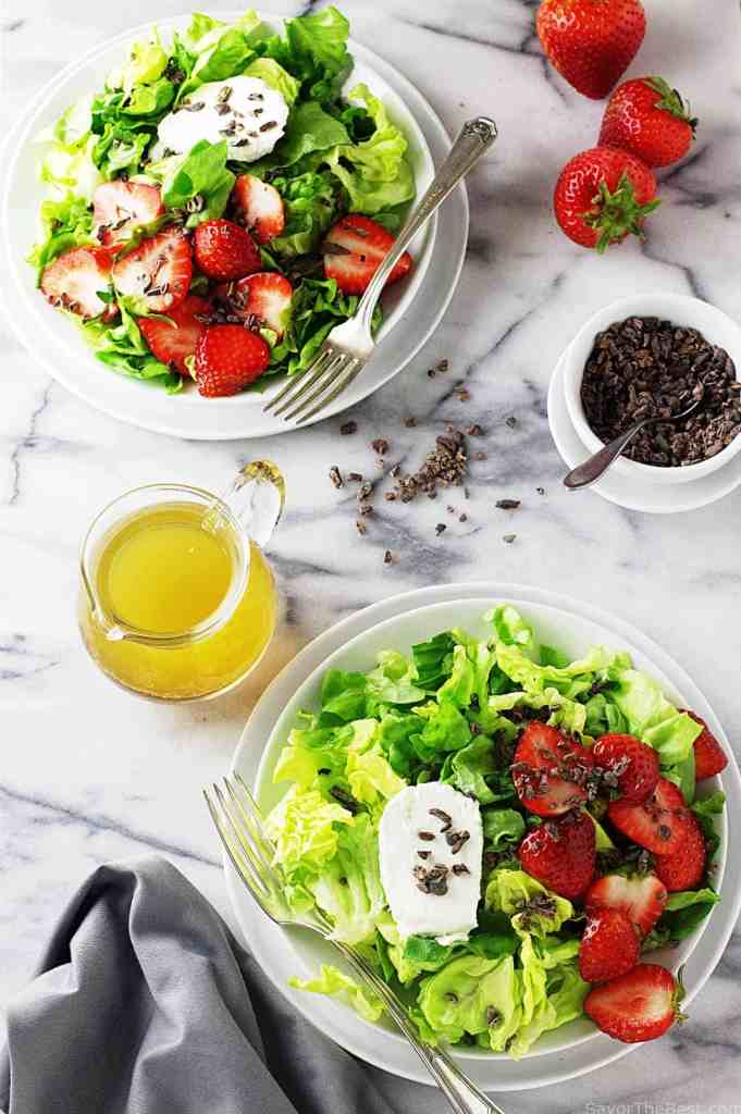 Butter Lettuce, Strawberries and Cocoa Nibs - Savor the Best