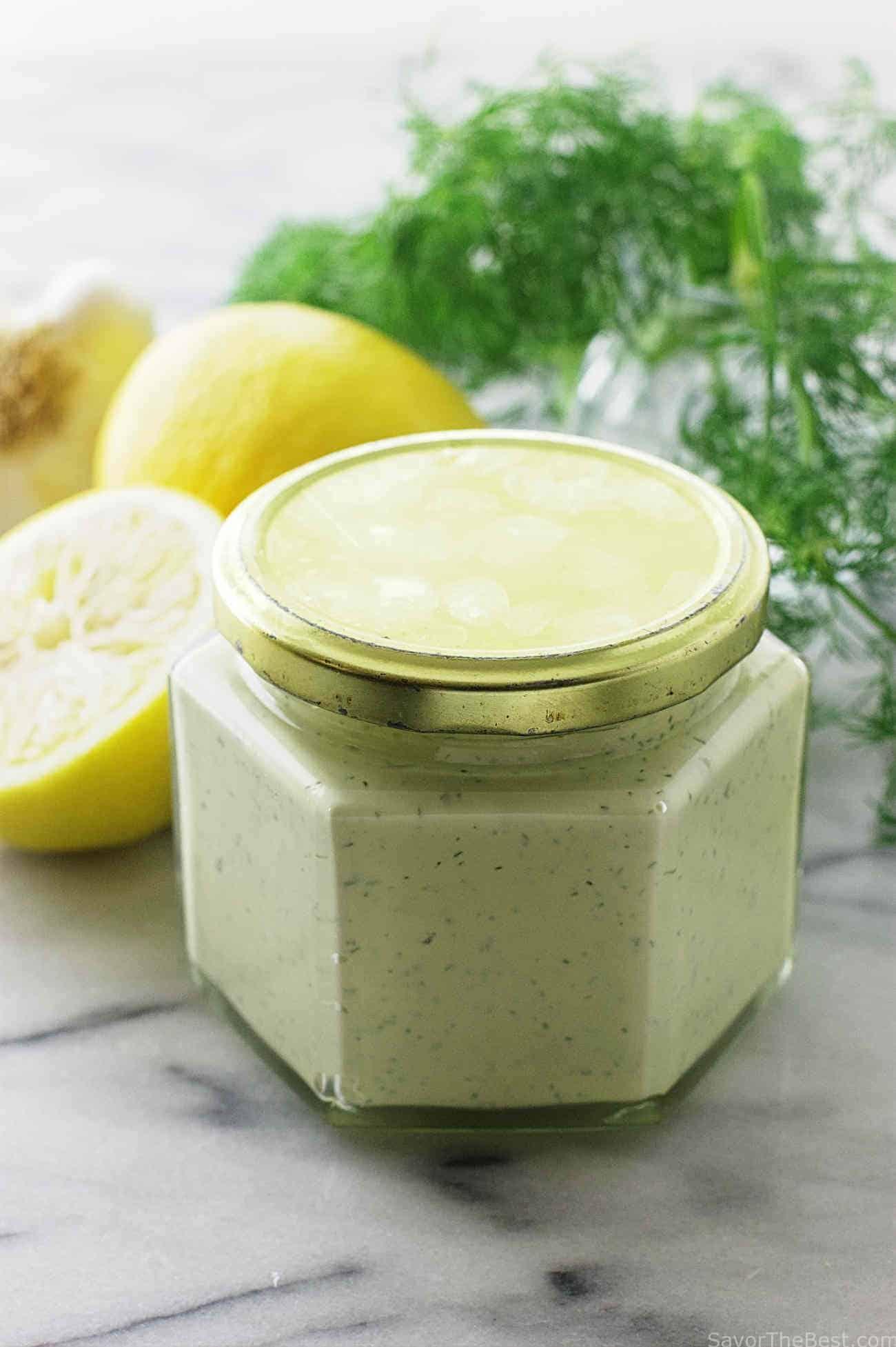 Lemon-Dill Aioli Sauce - Savor the Best
