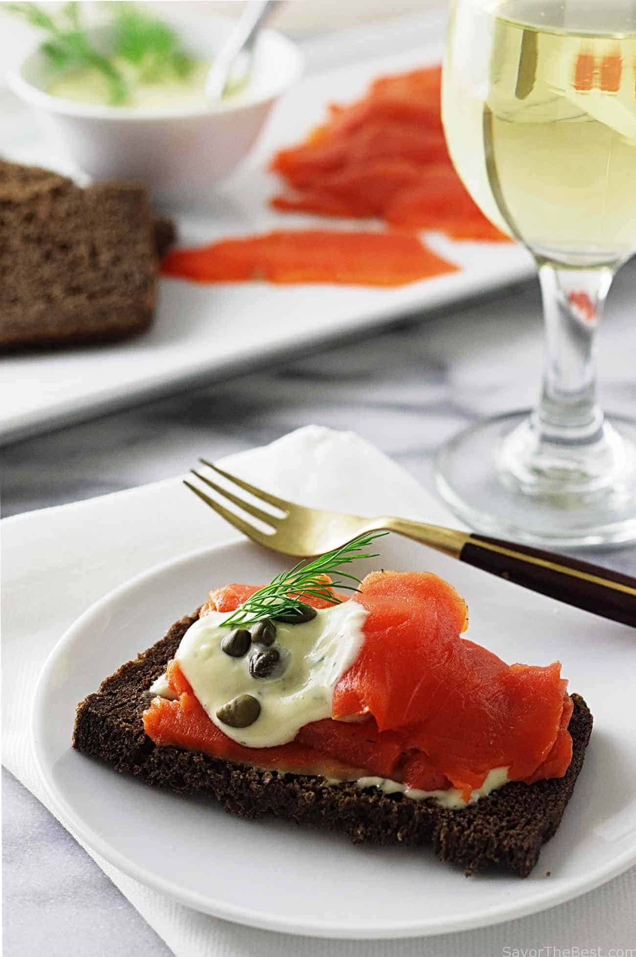 Sauce Gravlax Salmon Gravlax Savor The Best