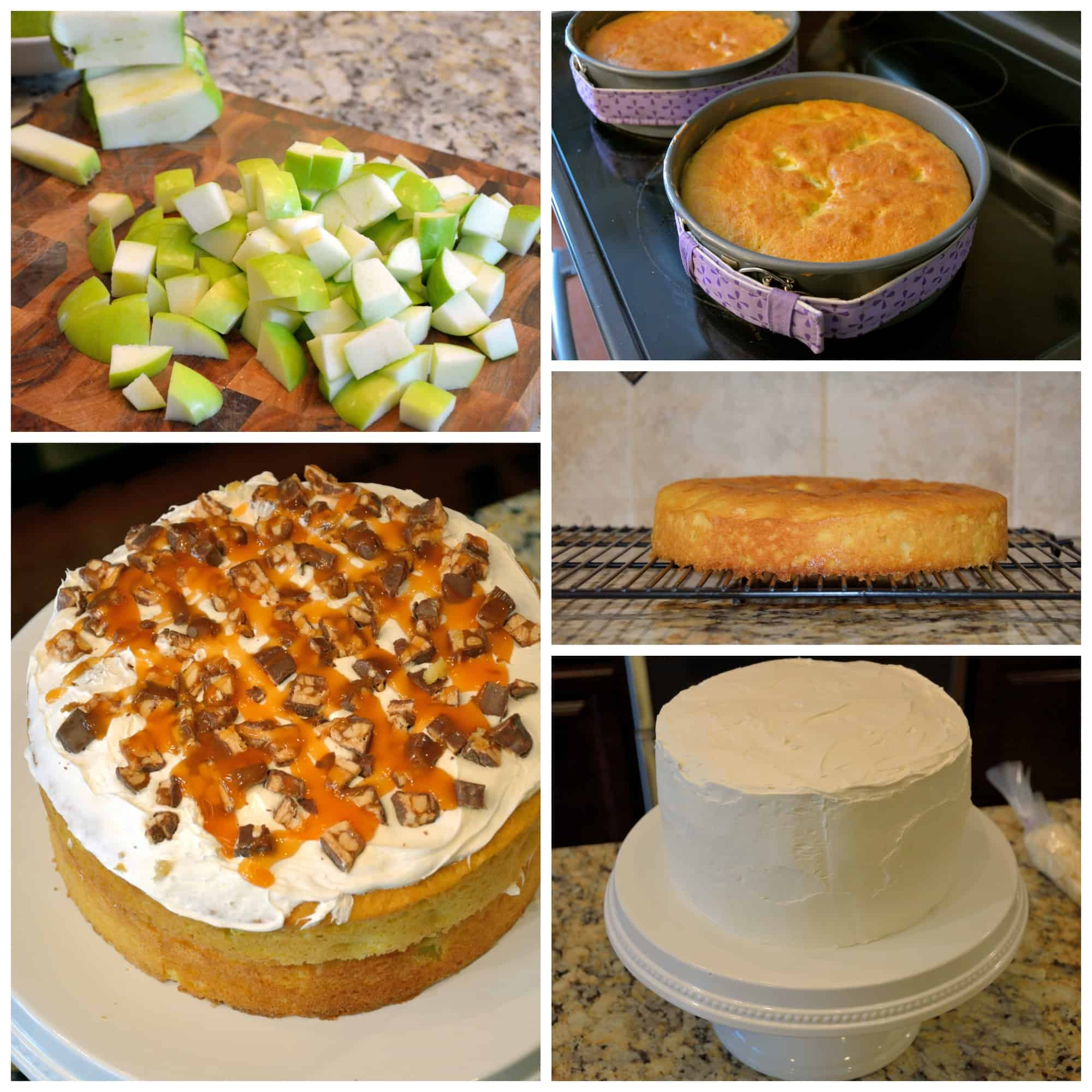 Snickers Kuchen Torte Caramel Apple Cake With Snickers Recipe