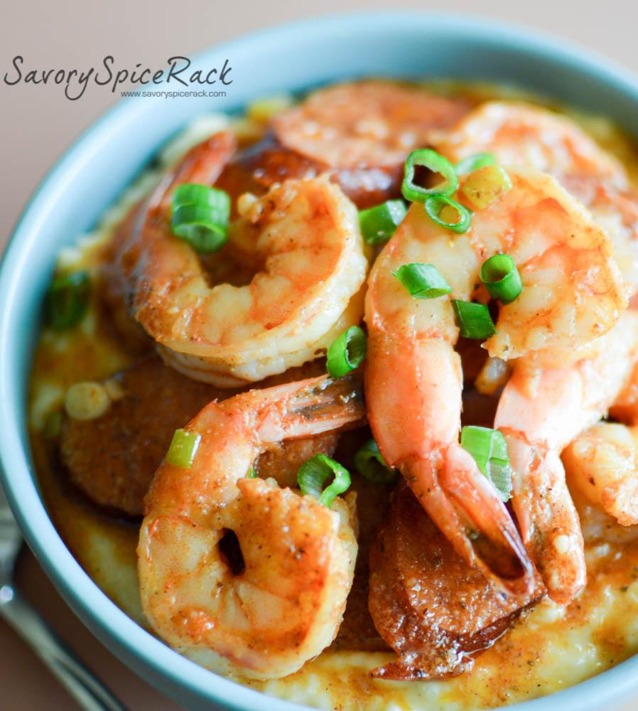 Cajun Shrimp and Grits - Savory Spicerack