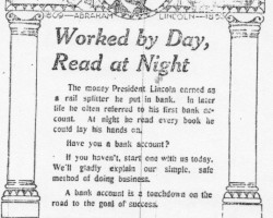First State Bank Ad (1918)