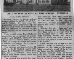 Tribute to the College (1932)