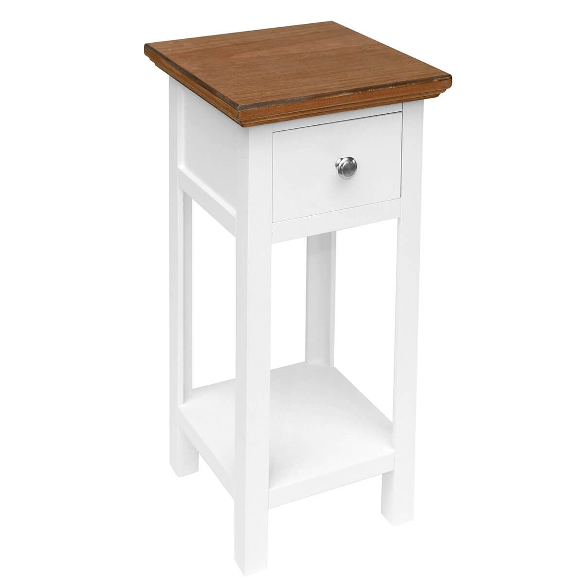 Best Bedside Table White Bedside Table With Wooden Top Savvysurf Co Uk