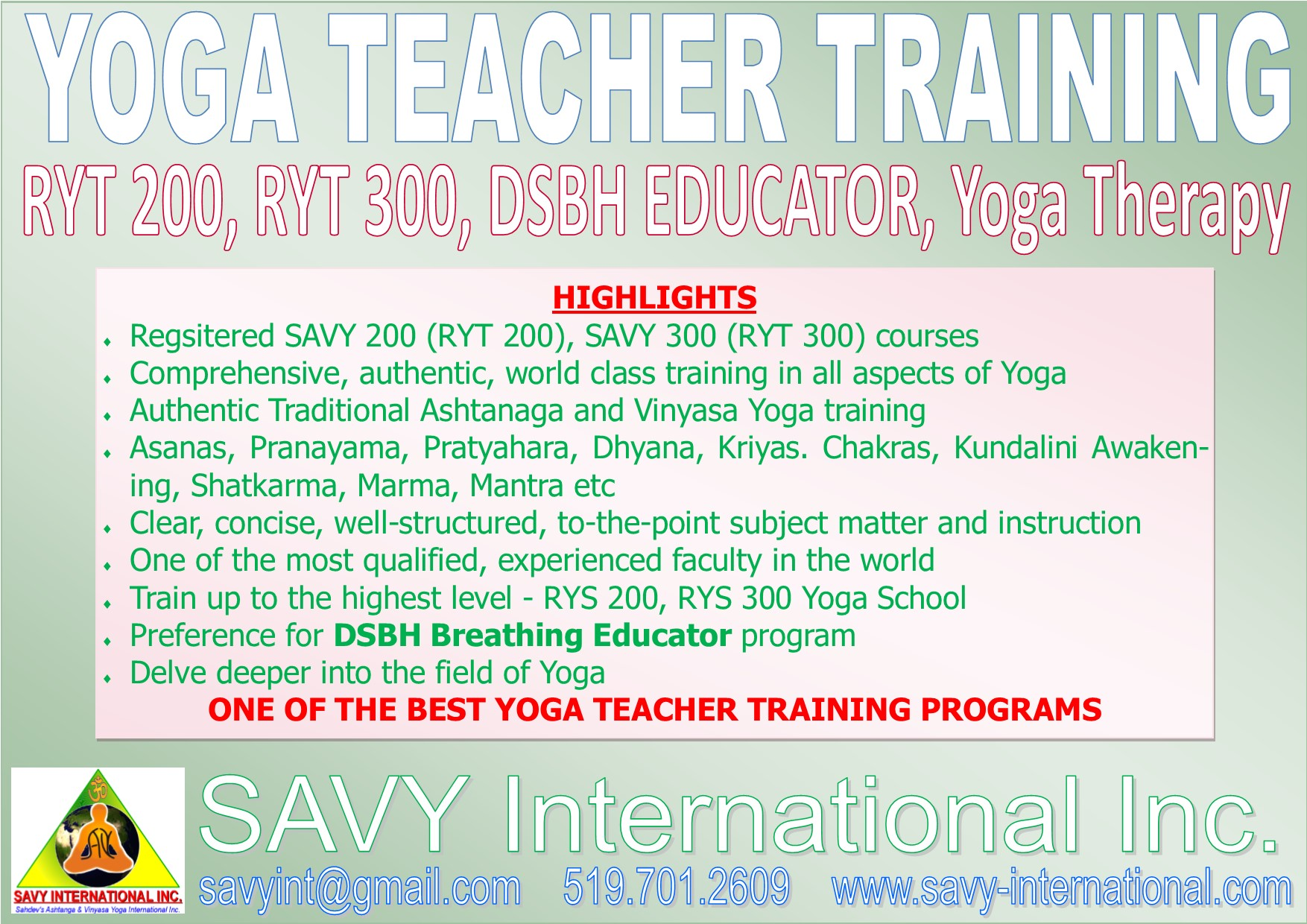 Most Comprehensive Yoga Teacher Training London ON