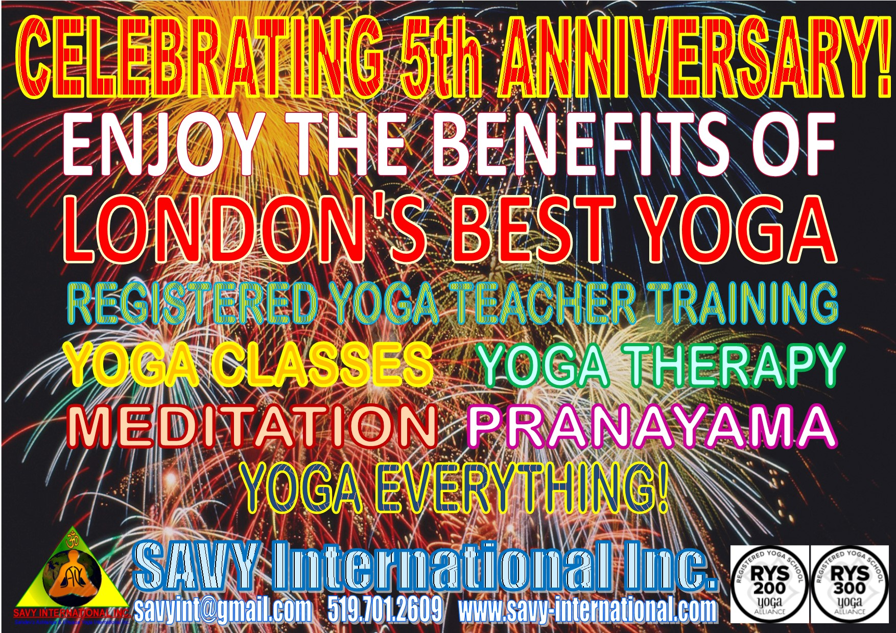 SAVY's 5th Anniversary Yoga Special