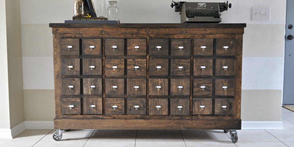 Long Cabinet Pulls Ikea Cubbies Into A Rustic Apothecary - Sawdust 2 Stitches