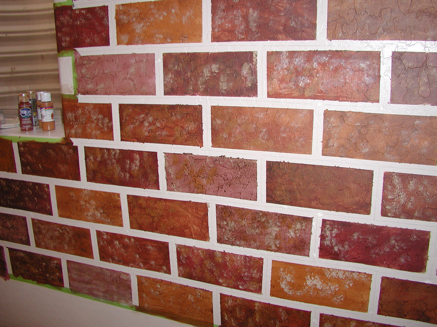 Brick Paint Colors Interior Brick Painting Ideas Paramountgolfforeste Info