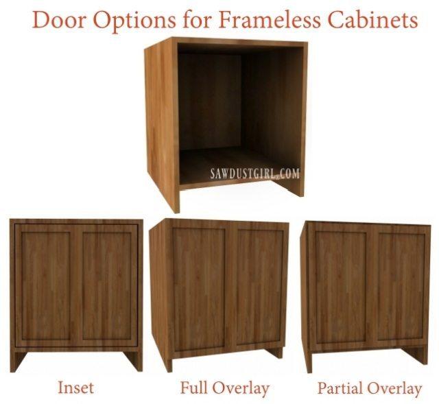 frameless cabinet hinges