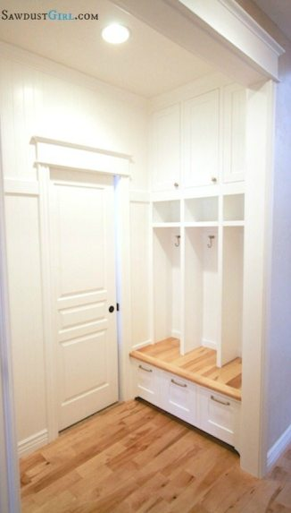 Built-in lockers.  Awesome for mudroom or laundry room.  http://sawdustgirl.com