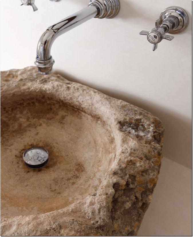 decorating with primitive stone basins