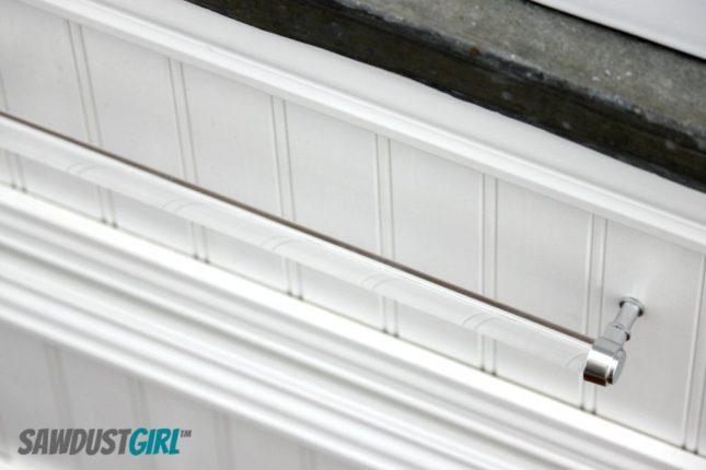 DIY acrylic drawer pull - sawdustgirl.com