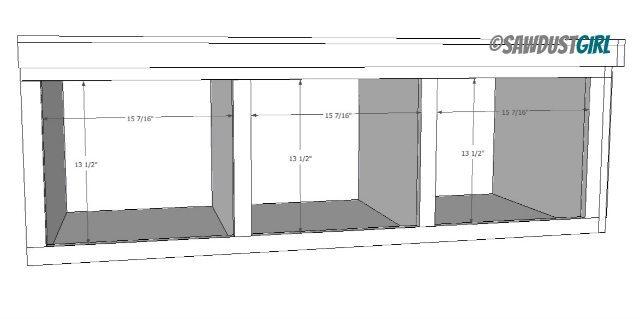 platform storage bed plans