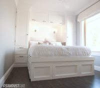 Built-in Wardrobes and Platform Storage Bed - sawdustgirl.com