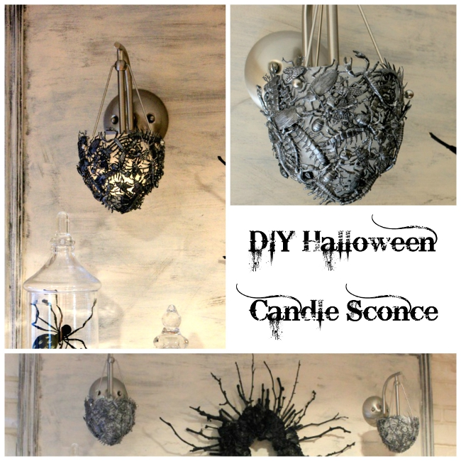 DIY Halloween Candle Sconce