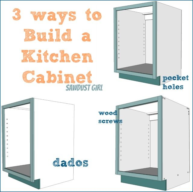 Three ways to build a basic kitchen cabinet sawdust girl for Basic kitchen cupboards