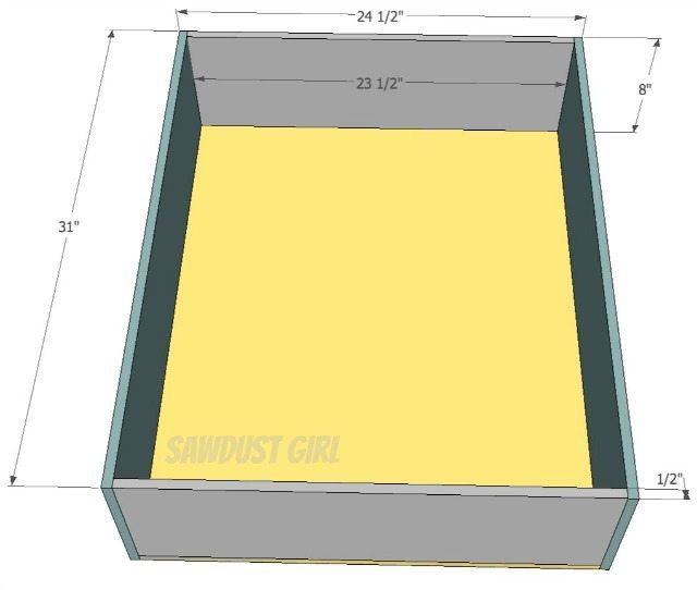 Queen Size Platform Storage Bed Plans - Sawdust Girl®