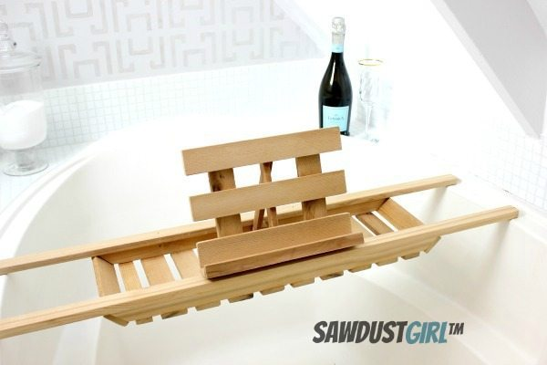DIY Cedar Bathtub Caddy Super Easy Version Sawdust Girl