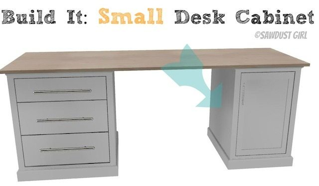 Free desk plans from @Sawdust Girl