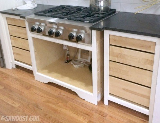 installing inset drawers where the drawer front will be flush with the face frame is simple enough you simply have to block out the cabinet behind the
