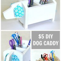 DIY Dog Storage Caddy