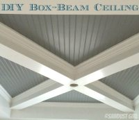 How to Build a Box Beam Ceiling - Sawdust Girl