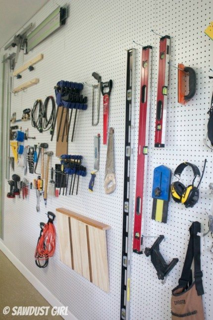 How to create a Pegboard organization wall