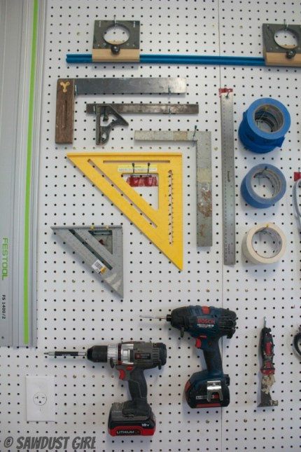 Pegboard Wall - Workshop Tool Storage
