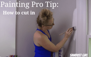 How to cut in around moulding when painting.