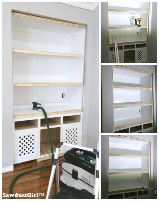 How to support extra wide built-in shelves