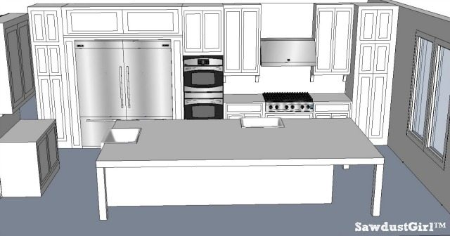 Kitchen Design Ideas - http://sawdustgirl.com/