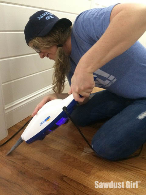 Easily remove paint new or old from a floor sawdust girl for Removing paint from wood floors