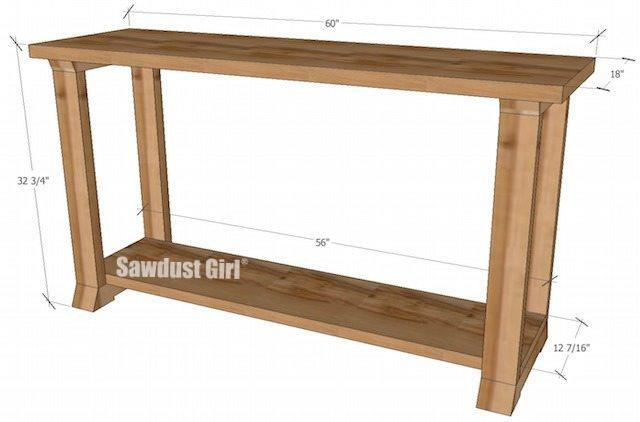 box leg sofa table